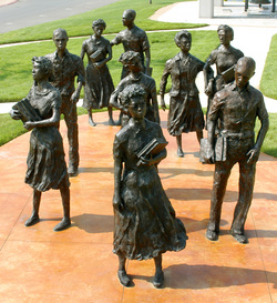 Picture of Little Rock Nine statuary